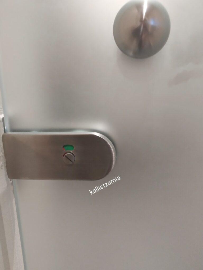 Γύαλινη αδιάφανη εσωτερική πόρτα