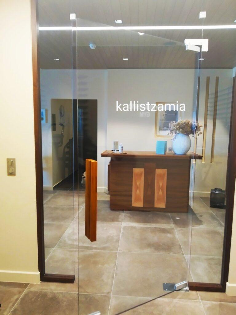 Γύλινη διάφανη εσωτερική πόρτα#διαχωριστικά εσωτερικού χώρου