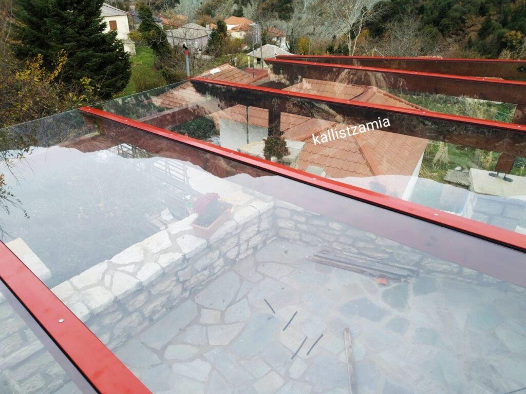 kallistzamia#glass# γυάλινο σκέπαστρο#στέγαστρο#triplex glass
